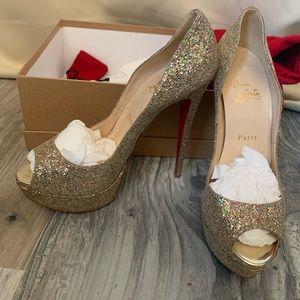 Christian Louboutin glitter pumps size 39.5